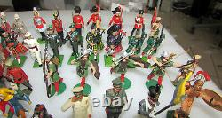 100 Pc Mixed Group Lot Lead Toy Soldiers Britains England Spain France USA Etc