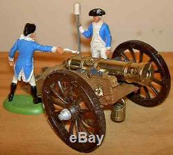 132 Britain's #9737 Gun of the Revolution 2 figures + metal & plastic cannon