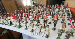 132 Pc Mixed Group Lot Lead Toy Soldiers Britains England Spain France USA Etc