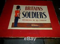 1915 Britains Regiments of All Nations # 28 Royal Artillery Mountain Gun & Box