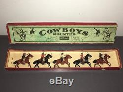 1933 Britains Mounted Cowboys Boxed Set #179 / Graded 9 Near Mint In Box
