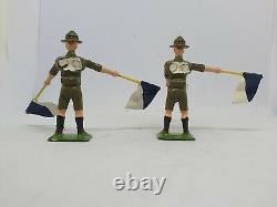 1954 Britains 54mm hollow-cast lead Set 163 Boy Scout Signallers