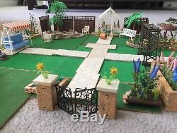 1960s Britains Floral Garden Plastic Flowers, Pond, Rockery, Gates, Dibbers etc