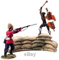 20030 Breaching the Wall, British 24th Foot & Attacking Zulu uDloko warrior