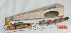 #289 Vintage Herald Polar Sledge Team with 9 Husky in icicle shape box