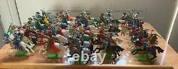 31 Britains Deetail Knights On Horseback With Weapons Excellent Condition