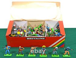 48 Britains Deetail Dismounted Cowboys # 7650 mint in their counter pack box