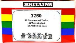 48 Britains Deetail Turks on foot 1st version mint in counter pack box 7750