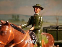 BRITAINSVINTAGE BRITISH ARMY SERVICE CORPS WAGON (KHAKI)SET #146aRARE