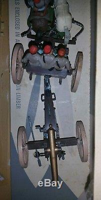 BRITAINS 1960s Plastic SWOPPETS, Confederate Artillery Gun Team With Limber 7434