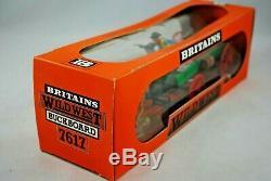 BRITAINS 7617 WILD WEST Detailed BUCKBOARD WAGON & HORSES Mint in Box