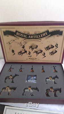 BRITAINS 8857 Royal Artillery Mountain Battery Set 10 Pieces & Gun BOXED