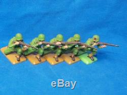 BRITAINS DEETAIL 1970s, WW2 US ARMY INFANTRY GI, 22 SOLDIERS WITH MORTAR CREW