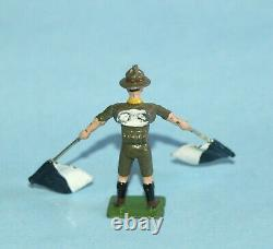 BRITAINS ENGLAND 1954 BOY SCOUT SIGNALLERS 4 of the 5 Figures from SET #163