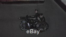 BRITAINS MOTOR MACHINE GUN CORPS Motorcycle Rider Gunner Original Box W. Britain