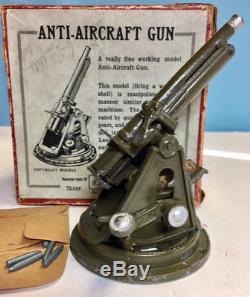 BRITAINS Prewar Set #1522 4 ½ Anti Aircraft Gun, 1937, Made in England