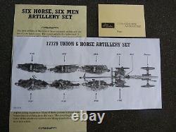 BRITAINS Train d'artillerie nordiste avec 6 chevaux et équipage état neuf