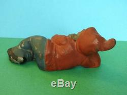 BRITAINS VINTAGE 1930s VERY RARE LARGE SCALE LEAD GARDEN GNOME LYING DOWN #242B
