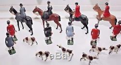 BRITAINS VINTAGE LEAD HUNT SERIES 1930/50s Job Lot collection 24 pcs