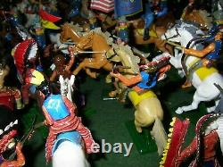 Bargain Huge Lot! Britains Deetail 7th Cavalry And Indians Collection