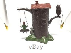 Barrett And Son, Pixie Tree House With Cast In Door (my Ref Grey 666) Metal