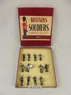 Boxed Britains Soldiers ROAN Set 2153 Royal Marines Band c1950s