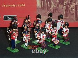 Britains 00214 Scots Guards Pipe + Drum Band 1899 Metal Toy Soldier Figure Set