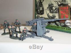 Britains 17246 German Army 88mm Flak Gun + Crew Metal Toy Soldier Figure Set