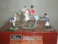 Britains 17367 British Sergeant Ewart Capturing 45th Flag Metal Toy Soldier Set