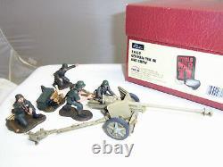 Britains 17452 German Pak 40 Gun + Crew Ww2 Metal Toy Soldier Figure Set