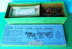 Britains 1924 Lead Home Farm Series Boxed #5f Farm Waggon & Carter Blue Label