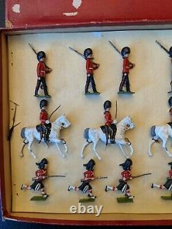 Britains 2036 Royal Scotts Greys Guards Black Watch Mounted Lead Soldier Set Box