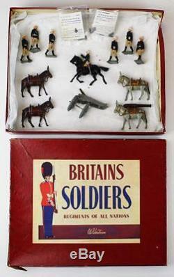 Britains # 28 Royal Artillery Mountain Gun with Box