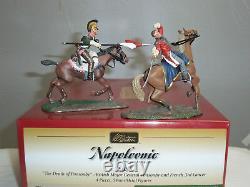Britains 36085 Death Of British Major Ponsonby + French 3rd Lancer Mounted Set