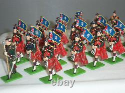 Britains 41150 Royal Scots Pipe + Drum 20 Piece Band Metal Toy Soldier Set