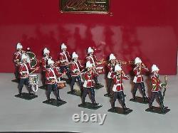 Britains 48008 Zulu War British 24th Foot Drum Corps Band Metal Toy Soldier Set