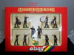 Britains 7204 Royal Marines Drum + Bugle Band Metal Toy Soldier Figure Set