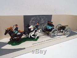 Britains 7434 Acw Gun Team & Limber Confederate Mint Boxed (bs2555)