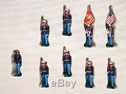 Britains 7469 Eyes Right U. S. Marines X 15 Box Set Mib (bs2199)