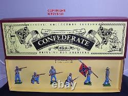 Britains 8851 American CIVIL War Confederate Infantry Metal Toy Soldier Set
