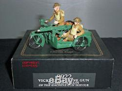 Britains 8922 Vickers Machine Gun Service Motorcycle + Sidecar Toy Soldier Set