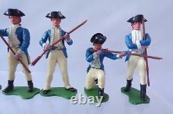 Britains AWI American Infantry Soldiers And Scout Set Of Six Figures 1.32