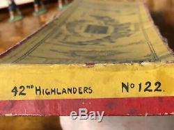 Britains Boxed Set 122 First Version Black Watch Firing. Circa 1908