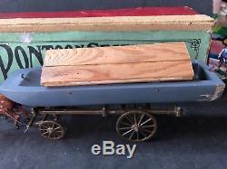 Britains Boxed Set 203 Royal Engineers Pontoon Wagon. Pre War