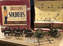 Britains Boxed Set 2077 RHA At The Walk. Riders Repainted. Post War c1950s