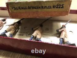 Britains Boxed Set 225 Kings African Rifles. Pre War, c1935