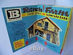 Britains Buildings 4720 Wild West Livery Stable Barn Boxed Swoppets Cowboys