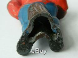 Britains C1948 Rare Lead Large Scale 5 1/4 Garden Gnome & Flowerpot #169b