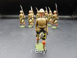 Britains CAPE TOWN HIGHLANDERS South African Army figure set 1901 ROAN box RARE