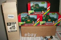 Britains DEETAIL, BRITISH LAND ROVER LOT, OLD STORE STOCK 9780 X3 MIB LOOK